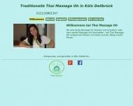 Bild Webseite Thai Massage Oh Köln