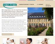 Website hairfree Institut Bayreuth