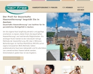 Website hairfree Institut Aachen