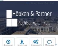 Bild Webseite Höpken & Partner Rechtsanwälte mbB | Notar Berlin