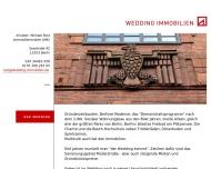 Website WEDDING IMMOBILIEN