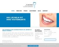 Bild Webseite Zahnarztpraxis Dr. Igor Bender Berlin