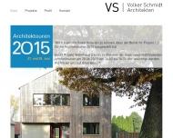 Website Volker Schmidt Architekten