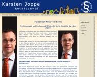 Bild Webseite Rechtsanwalt Karsten Joppe Berlin