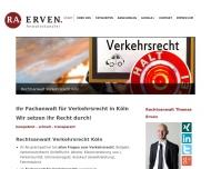 Website Thomas Erven – Fachanwalt für Verkehrsrecht