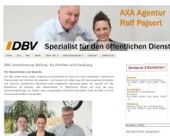 Bild Webseite DBV Versicherungsagentur Ralf Pajsert Duisburg