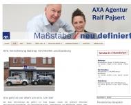 Bild Webseite AXA Versicherungsagentur Ralf Pajsert Duisburg