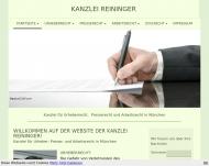 Website KANZLEI REININGER