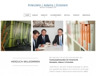 Bild Webseite Kanzlei Kränzlein, Adams & Eckstein München München