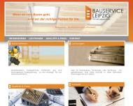 Website Bauservice Leipzig UG