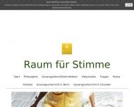 Bild Raum für Stimme: Gesangsunterricht in Bonn und Dresden