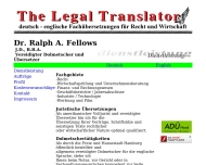 Bild Dr. Ralph A. Fellows - The Legal Translator