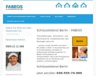 Website Schlüsseldienst Berlin - FABEOS
