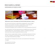 Website Kanzlei Reichard & Heinz