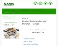 Bild Webseite Bau- und Handwerker-Service München - FABEOS München
