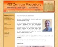 Website MET Zentrum Magdeburg