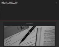 Website MÜLLER SEIDEL VOS - Rechtsanwälte