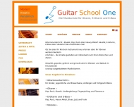 Website Guitar School One - Gitarrenunterricht in Münster
