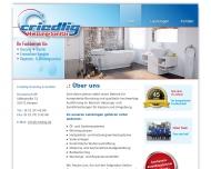 Bild Webseite Criedlig Heizung & Sanitär Kerpen