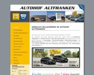 Bild Webseite Autohof Altfranken Gretschel Dresden