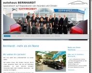 Bild Webseite Autohaus Bernhardt Dresden