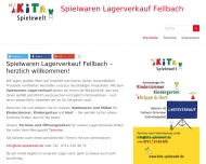 Website Spielwaren Lagerverkauf Fellbach