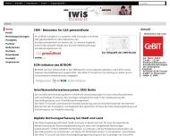 Bild Webseite IWiS Consult -Gesellschaft für Unternehmensberatung und Datenverarbeitung Berlin