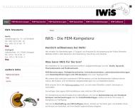 Bild Webseite IWiS Ingenieurbüro für Wissenschaftliche Software Berlin