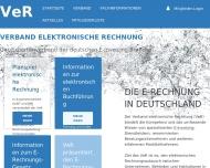 Bild Webseite VeR Verband elektronische Rechnung München