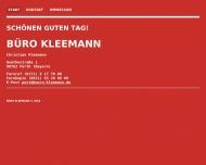 Bild Webseite BÜRO KLEEMANN Köln