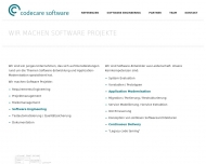 Bild Webseite codecare software Darmstadt