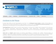 Website Kom21 - Innovative Lösungen für Ihre Geodaten