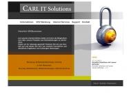 Bild Webseite CARL IT Solutions München