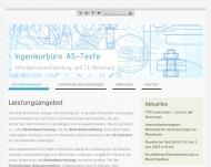 Bild Webseite Ingenieurbüro AS-Texte München