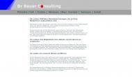 Bild Webseite Dr. Bauer Consulting Freiburg im Breisgau