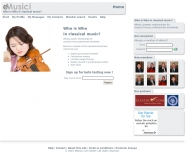 Bild Webseite eMusici com Köln