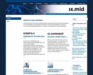 Bild Webseite ixmid software technologie Köln
