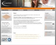 Bild Webseite CONTEXT München