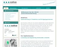 Bild Webseite COLCO Unternehmensberatung Köln