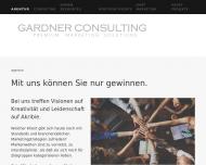 Bild Webseite GARDNER-CONSULTING München