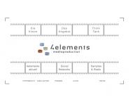 Bild Webseite 4elements mediaproduction - Verbund freischaffender Film- und Medienmacher Unterföhring