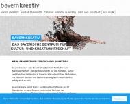 Bild Webseite bayernkreativ Nürnberg