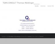 Bild Webseite TQM-CONSULT, Kolbermoor, Partner der BFB-Gruppe, Rosenheim Kolbermoor