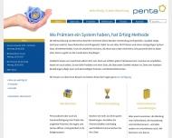 Bild Webseite Penta Werbekreationen Trebur