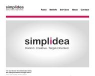 Bild Webseite simplidea München