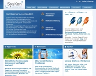 Bild Webseite SysKon Systemlösungen Konstanz