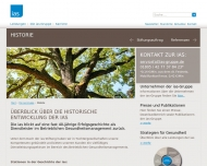 Bild Webseite ias Aktiengesellschaft München