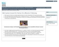 Bild Webseite MSC System Consult München