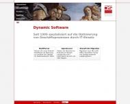 Bild Webseite Dynamic Software München