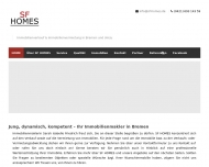Website SF HOMES Immobilien